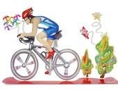 Bicycle Sculpture, Rider Sculpture, Metal Bicycles & Butterflies Rider Sculpture, Table Art Decoration, Multicolor Rider, Table Sculpture