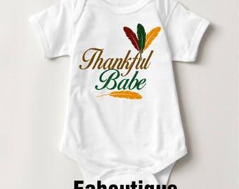 Thankful Babe Bodysuit/T-Shirt