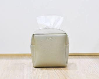 Square Tissue Box Cover, Facial Tissue Holder, Toilet Paper Holder, Soft Touch, Begie