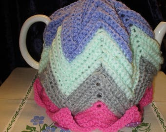 Tea Cosy with Zig Zag Pattern