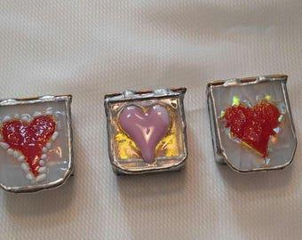 2x2 Trinket Box-Ring Box-Stained Glass Trinket Box-Trinket Box-Fused Glass Box-Jewelry Box-Heart Ring Box-Heart Trinket Box