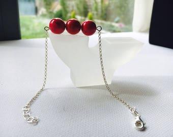 925 silver bracelet with Jasper on www.TiendaPija.Com/tienda spheres