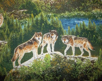 Bringing Nature Home Wildlife Wolves Cotton Fabric #123