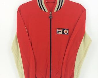 Vintage Fila Bjorn Borg Retro Sport Classic Design Skate Sweatshirt Sweater Varsity Jacket Size S #A846