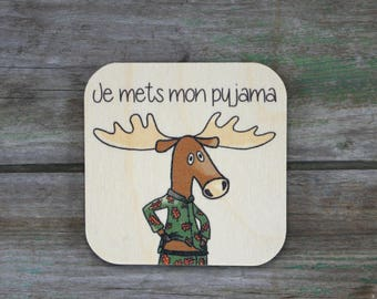 "Symbol ""I put my pajamas"", wooden - Daily Routine - 3 to 5 years"