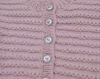 Lavendar purple pattern knit cardigan