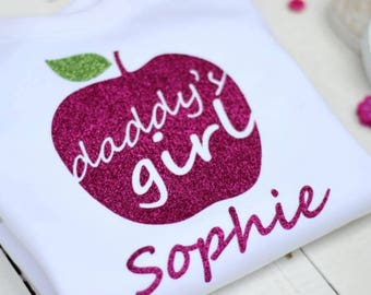 Personalised Daddys girl apple vest. Fathers day