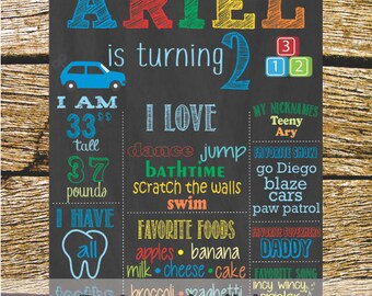 Personalized printable birthday Board.
