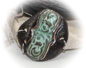 Urban Chic - Handmade Stoneware Pendant #495