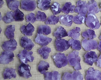 Natural Raw Amethyst Cluster Flower/Amethyst Points Pendants-undrilled