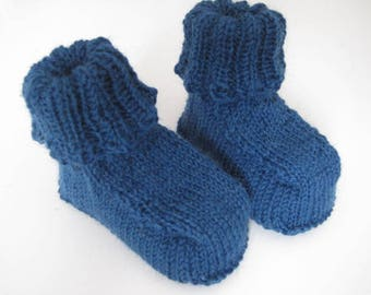 Baby booties 3-6 months petrol