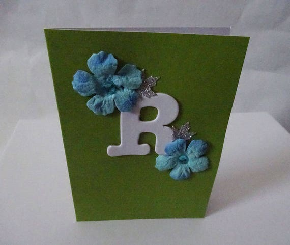 "Monogram/Initial Card - Letter ""R"""