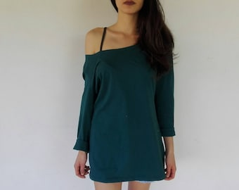 Turquoise BASIC top/dress Woman ONE SIZE L