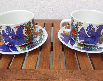 2 cups + saucers Villeroy & Boch Acapulco
