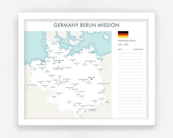 LDS Missionary Map - Digital File || Custom LDS Mission Map || For Missionary Moms & Return Missionaries || Return LDS Missionary Gifts