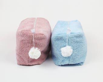 Pouch Bag Pink Blue-Beauty case Bath Care Dog Pet Blue Pink