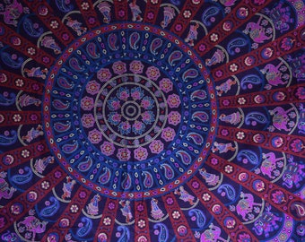 Boho Mandala Cotton Tapestry