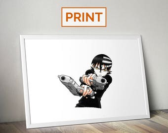 Death the Kid || Soul Eater || PRINT