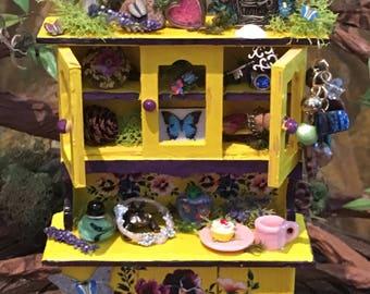A Gypsy's miniature fairy cupboard, hutch
