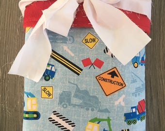 Construction Trucks Blanket~ Childs Blanket~ Boy Blanket~ Minky Blanket~ Toddler Blanket~ Trucks Blanket