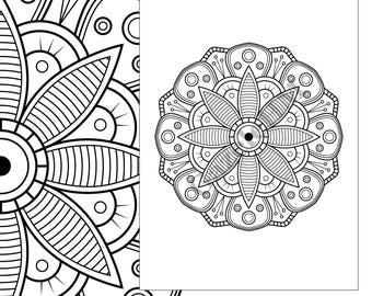 mandala coloring page printable mandala adult coloring sheet mandala download mandala coloring