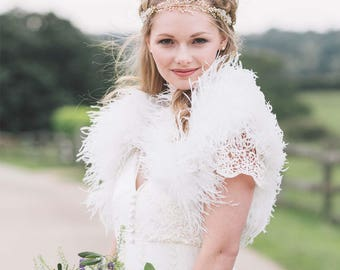 Feather bolero/luxury ostrich feather bolero/feather shrug/wedding bolero/feather jacket/bridal bolero/bridesmaid bolero/wedding wrap/bolero
