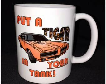 Hot Rod, Custom Car Coffee Mug, GTO Judge, Poncho, Street Rod, Roadster