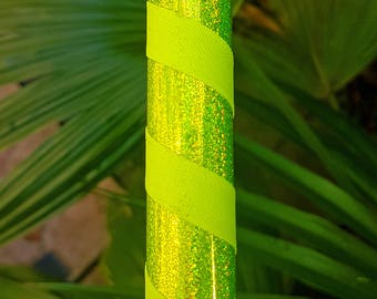"""Hula Hoop """"Yellow HoloGlitter"""" - Collapsible Polypro or HDPE"""