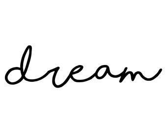 Dream Nursery Decor ~ Dream Wall Art ~ Dream Nursery Wall Stickers ~ Nursery Wall Decals ~ Wall Decals Wall Stickers ~ Dream decor