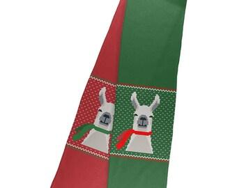 Ugly Christmas Sweater Big Llama Scarf Warm Fleece Scarf