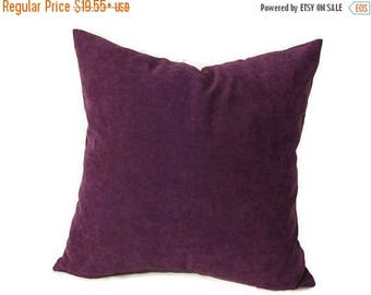 20%off Plum Pillow, Purple Velvet Pillow,  Plum Velvet Bed Pillow, Purple Velvet Bed Pillow, Plum Velvet Pillow Cover, Decorative Pillow