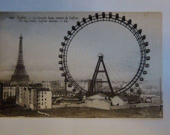 great wheel of paris post card vintage La Grande Roue