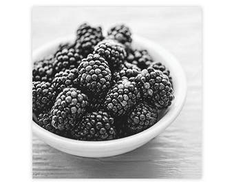 Minimalist Kitchen Art, Kitchen Canvas Decor, Black White Kitchen Wall Art, Fruit Wall Art Print, Country Kitchen Wall Art, Blackberries