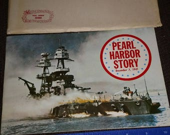 1970 pearl harbor story souviner booklet with envelope