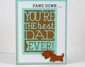 Dachshund Card, Dachshund Father's Day Card, Father's Day Card, Dachshund, Doxie Card