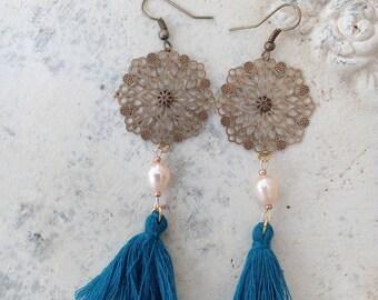 Earrings Bohemian tassel