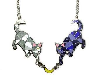 Luna & Artemis Geometric Necklace