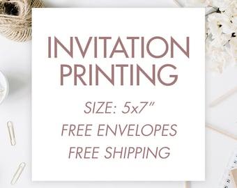 Invitation Printing Services   |   Quinceañera Invitation Print