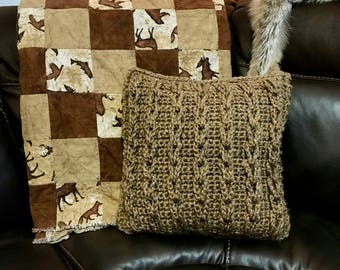 Rustic Cable Loop Pillow