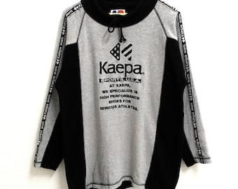 RARE!!!! Kaepa Sports Usa Big Logo Embroidery SpellOut Grey And Black Colour Sweatshirts Hip Hop Swag L Size