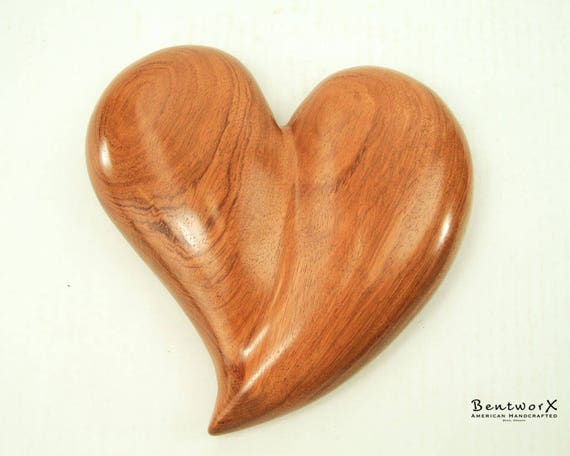 "Say I Love You with this ""Beautifully Whimsical"" Bubinga Heart Wall Art | Bentworx™"