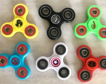 SALE* Monogram Fidget Spinners - Standard Custom Hand Spinner - Spinner Name Initial- ADHD Autism Stress Toy