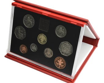 1992 Royal Mint Proof Set Red Leather Deluxe