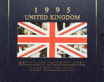 1995 Brilliant Uncirculated Coin Year Set Collection - Royal Mint