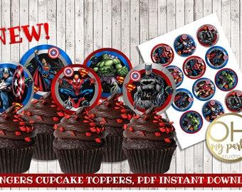 AVENGERS birthday,avengers printable,avengers party, averngers birthday,avengers cupcake toppers, avengers party supplies, avengers