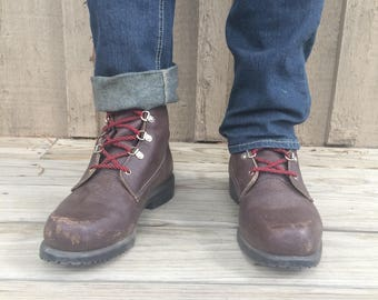 Vintage Red Wing work boot.