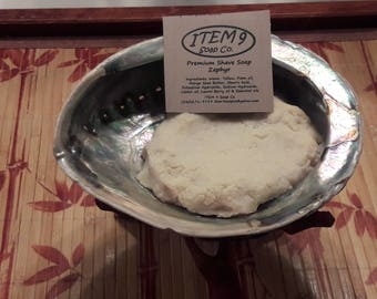 ITEM 9's Shave shell with 5oz of Premium Shave Soap