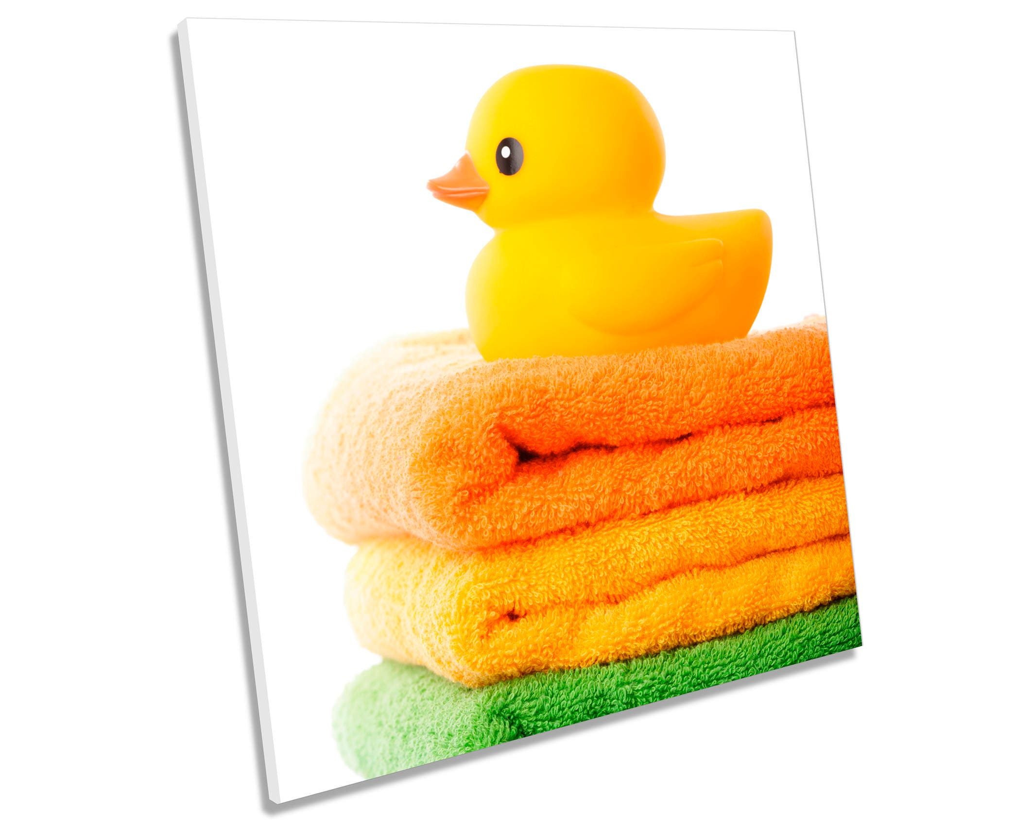 Rubber Duck Towels Bathroom CANVAS WALL ART Square Print