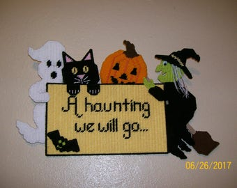 "Halloween Wall Sign ""A Haunting We Will Go"""
