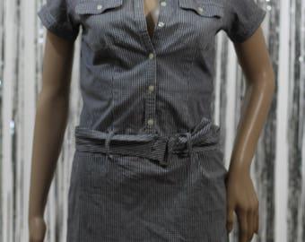 Vintage Blue White Cotton Ralph Lauren Sport Dress (XS)